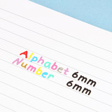 Size - Wanna This Doodle Alphabet and Number PVC Sticker Pack