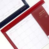 Jam studio A4 Monthly Dateless Desk Pad Planner