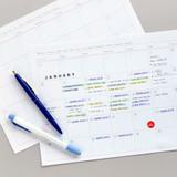 Usage example - Jam studio A4 Monthly Dateless Desk Planner Paper Refills