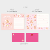 10 Pink - Second Mansion Jucy and Paul Letter and Envelope Set 09-16