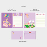 13 Violet - Second Mansion Jucy and Paul Letter and Envelope Set 09-16