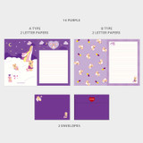 14 Purple - Second Mansion Jucy and Paul Letter and Envelope Set 09-16