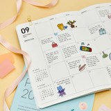 Usage example - Ardium 2022 large dated monthly planner scheduler