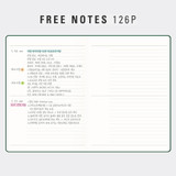 Free note - Antenna Shop 2022 Table Talk A5 Dated Monthly Diary Planner