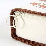 Double zipper closure - BT21 Jelly Candy Baby Cotton Zipper Pencil Case Pouch