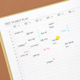 Yearly plan - Indigo 2022 Official Big Dated Monthly Planner Scheduler