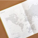 World map - Indigo 2022 Official Big Dated Monthly Planner Scheduler