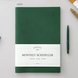 Green - Indigo 2022 Official Big Dated Monthly Planner Scheduler