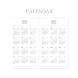 Calendar - Indigo 2022 Official Slim Dated Monthly Diary Planner