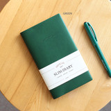 Green - Indigo 2022 Official Slim Dated Monthly Diary Planner