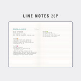 Lined note - Antenna Shop 2022 Table Talk A5 Dated Weekly Diary Planner