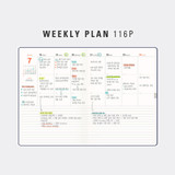 Weekly plan - Antenna Shop 2022 Table Talk A5 Dated Weekly Diary Planner