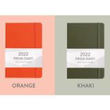 Orange, khaki - Indigo 2022 Prism B6 Dated Weekly Diary Planner