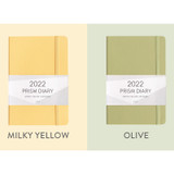 Milky yellow, Olive - Indigo 2022 Prism B6 Dated Weekly Diary Planner