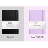 Black, lavender - Indigo 2022 Prism B6 Dated Weekly Diary Planner