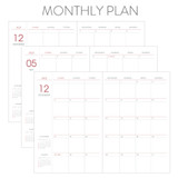 Monthly plan - Indigo 2022 Prism B6 Dated Weekly Diary Planner