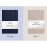 Navy, Gray - Indigo 2022 Prism B6 Dated Weekly Diary Planner
