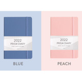 Blue, Peach - Indigo 2022 Prism B6 Dated Weekly Diary Planner