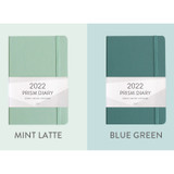 Mint latte, Blue green - Indigo 2022 Prism B6 Dated Weekly Diary Planner