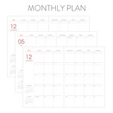Monthly plan - Indigo 2022 Prism B6 Dated Monthly Diary Planner