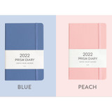 Blue ,Peach - Indigo 2022 Prism B6 Dated Monthly Diary Planner