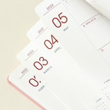 100gsm paper - Indigo 2022 Prism B6 Dated Monthly Diary Planner