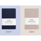 Navy, Gray - Indigo 2022 Prism B6 Dated Monthly Diary Planner
