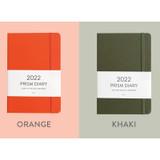 Orange, Khaki - Indigo 2022 Prism B6 Dated Monthly Diary Planner