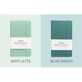 Mint latte, Blue Green - Indigo 2022 Prism Slim Dated Monthly Diary Planner
