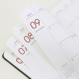 100gsm paper - Indigo 2022 Prism Slim Dated Monthly Diary Planner
