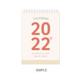 Simple - Indigo 2022 The temperature of the day monthly desk calendar