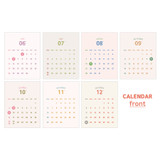 Monthly calendar (front) - Indigo 2022 The temperature of the day monthly desk calendar
