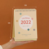 Size - Indigo 2022 The temperature of the day monthly desk calendar