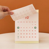 Wire binding - Indigo 2022 The temperature of the day monthly desk calendar