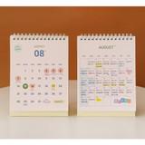 Calendar sheet - Indigo 2022 The temperature of the day monthly desk calendar