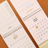 Calendar sheet - Indigo 2021 The temperature of the day monthly desk calendar
