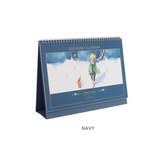 Navy -  Indigo 2022 Prince Story monthly desk standing calendar
