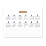 2023 calendar - Indigo 2022 Prism monthly desk standing calendar