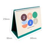 Size - Indigo 2022 Prism monthly desk standing calendar