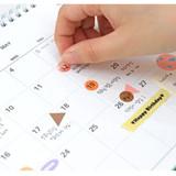 Comes with a sticker sheet - Indigo 2022 Prism monthly desk standing calendar
