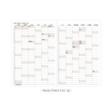Yearly checklist - Ardium 2022 Simple Medium Dated Weekly Planner Scheduler