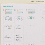 Yearly plan detail - Indigo 2022 Be Happy for Little Things Dated Weekly Diary
