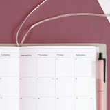 Two ribbon bookmark - ICONIC 2022 Simple Medium Dated Weekly Diary Planner
