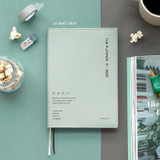 03 Mint Gray - ICONIC 2022 Simple Medium Dated Weekly Diary Planner