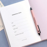 Personal data - ICONIC 2022 Simple Large Dated Monthly Diary Planner