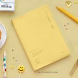 04 Custard Yellow - ICONIC 2022 Simple Large Dated Monthly Diary Planner