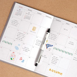 Monthly plan - ICONIC 2022 Simple Large Dated Monthly Diary Planner