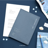 02 Indi Blue - ICONIC 2022 Simple Large Dated Monthly Diary Planner