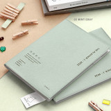 03 Mint Gray - ICONIC 2022 Simple Large Dated Monthly Diary Planner