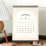 Back - ICONIC 2022 Simple Monthly Desk Scheduler Calendar